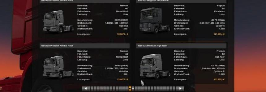 1500 HP Engine Pack for Renault Trucks v1.0