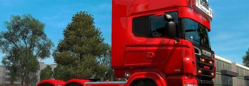 Black & Red Wheel for Scania Truck
