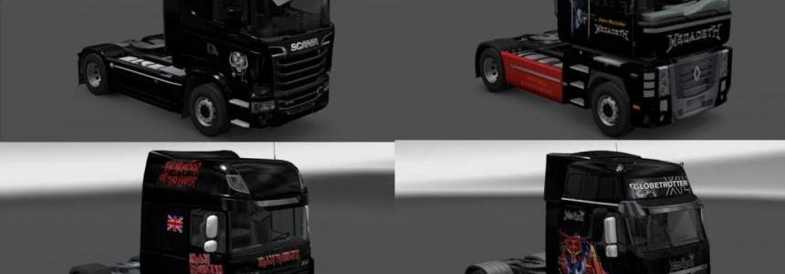 Heavy Metal Skins for Daf XF, FH16, Stream, Magnum + Trailers 1.24.x