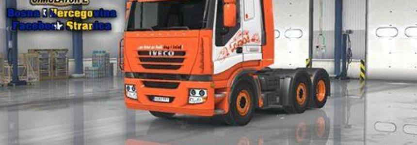 Iveco Strails FAB Orange White Skin Replica
