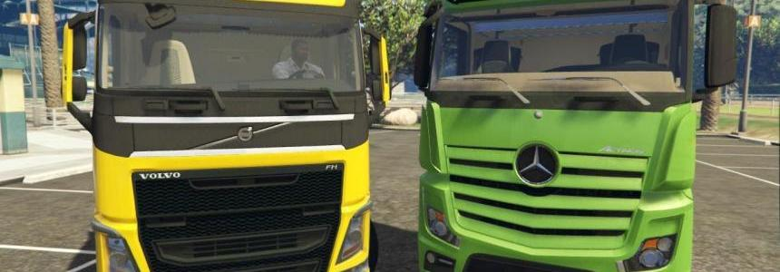 MB Actros MPIV and Volvo FH Series Reworked Stock Sound V2