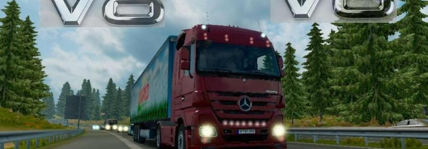 Mercedes Benz Actros V8 sound mod pack 1.24