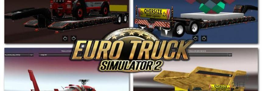 Overweight trailer pack v2 for ETS2 (UPDATE) 1.24.x