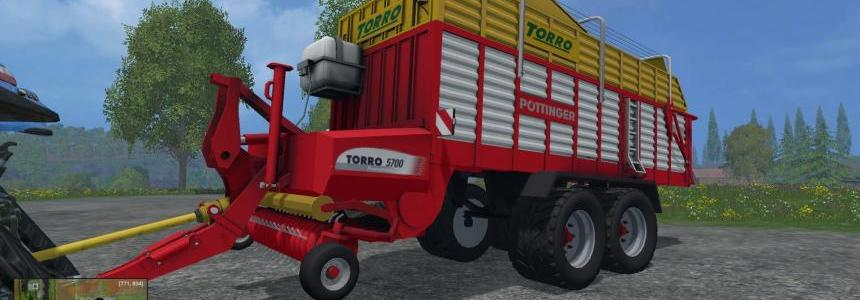 Pottinger Torro 5700 Collecting trailer V1