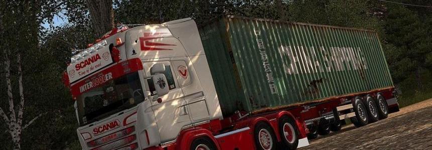 Scania R & Streamline (RJL) White & Red Skin + Accessory