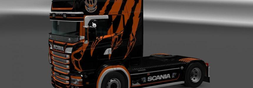 Scania RJL brutal Black/Orange 1.24