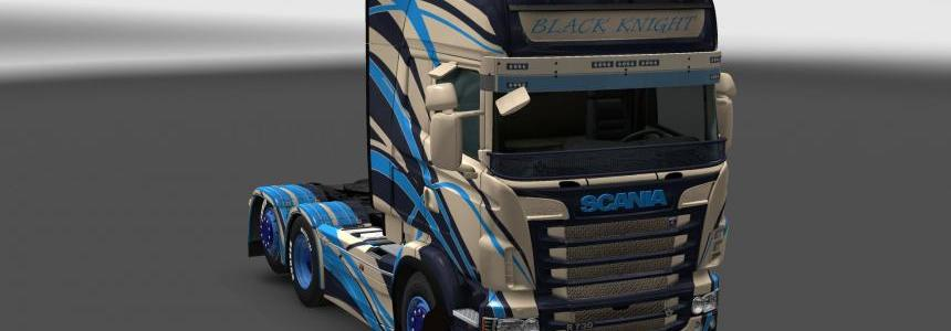 Scania R&S Topline Black Knight skin 1.24