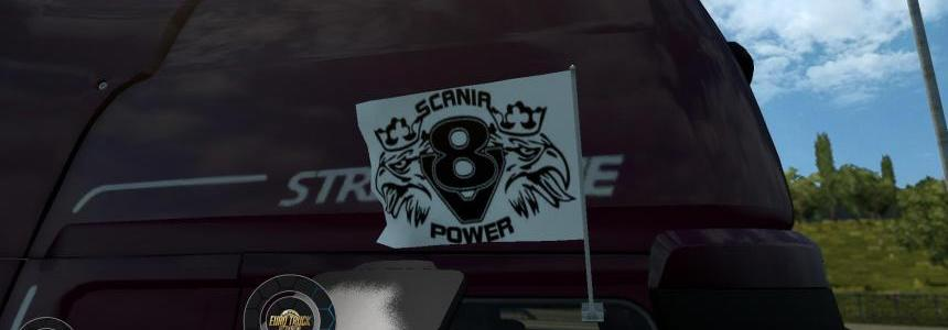 Scania V8 Power Flags 1.24