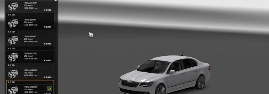 Skoda Superb edit by Traian v1.0