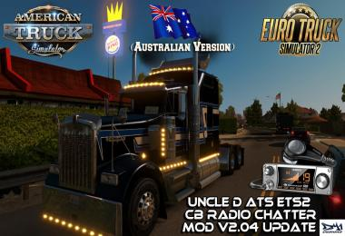 Uncle D ETS2 ATS CB Radio Chatter Mod (Australian Version) V2.04
