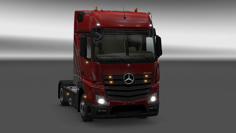 Actros MP4 plastic parts & more for v1.25