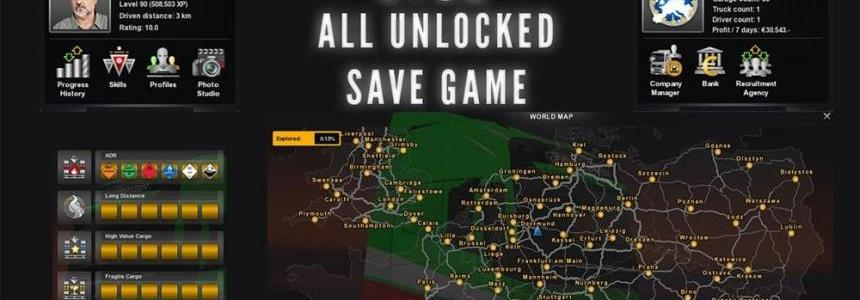 All Unlocked Save Game for last Version