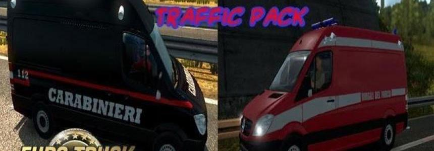 Ambulance & police & firefighters traffic pack v1.7.3