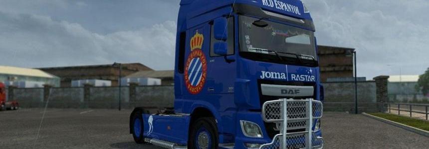 DAF XF Euro 6 RCD Espanyol FC Skin