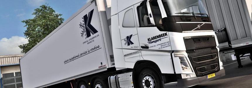 Klarenbeek Transport Volvo FH2012 combo skin pack v1.0