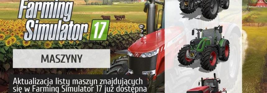 List of the machines included in FS17