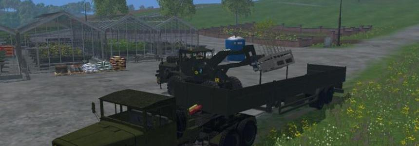 Magirus Deutz Jupiter truck with semi trailer v1.15