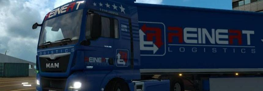 MAN TGX Euro 6 by Madster Reinert Logistic Skin