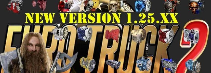 Powerful engines Pack 10 + 14 transmissions v3.0