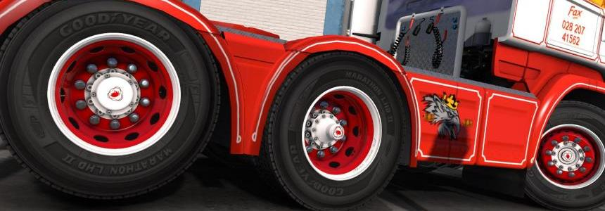 Red & White abasstreppas Wheels 1.24