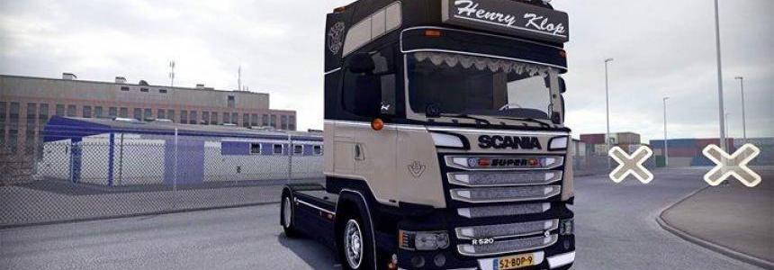 Scania R520 Streamline Henry Klop 1.24-1.25