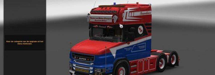 Scania T620 Streamliner + Cabin DLC ready 1.24 - 1.25