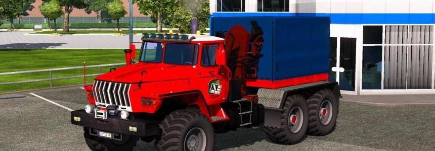 Ural 43202 + Interior + Trailer v3.4