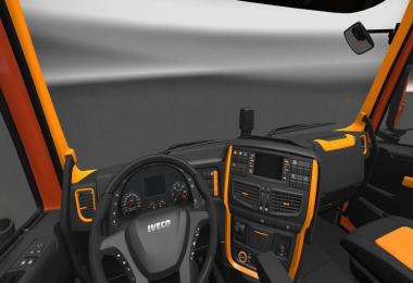 Black Orange and Lux Interiors