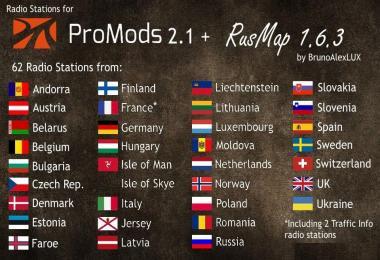 Radio Stations for Promods v2.1 + RusMap 1.6.3
