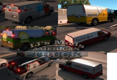 Utility vehicles (vans) with skins companies in the SCS traffic