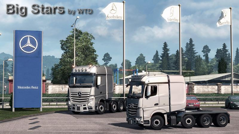 Big Stars – Actros and Arocs V2 + CABIN DLC + FLAG DLC