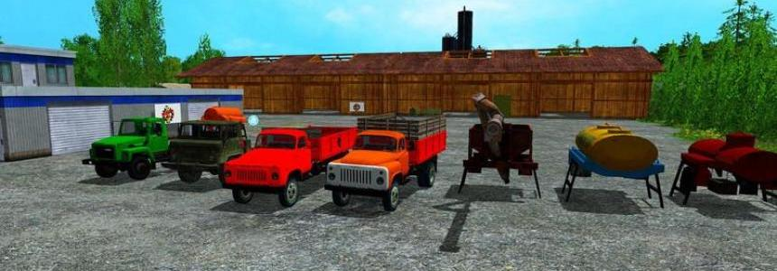 Gaz 53 Pack Trucks + Trailer (Multicolor) v4.01
