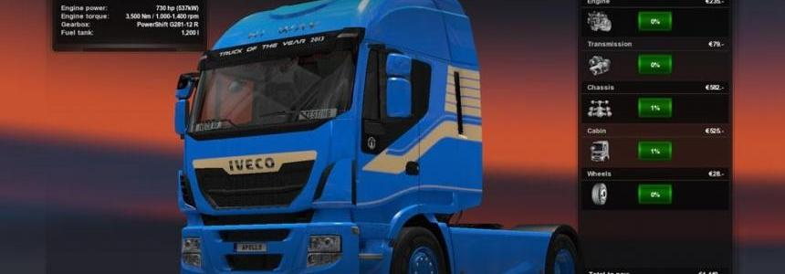 Iveco V8 Engine with Sounds (MP Ready)