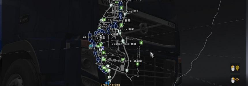 R.O.C Taiwan map & P.R.C map add-on v0.18 1.25