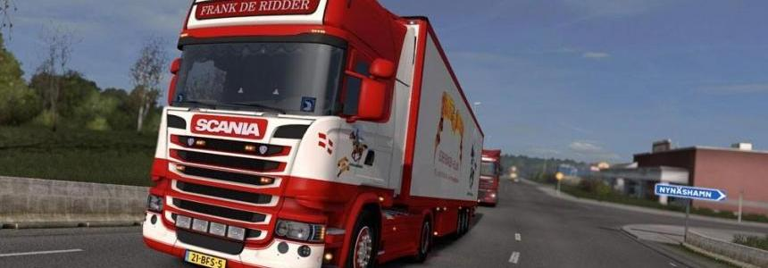 Scania Frank De Ridder with Schmitz Trailer v1.25