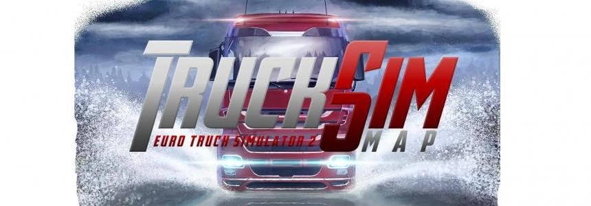 Truck Sim Map v6.4 for 1.25