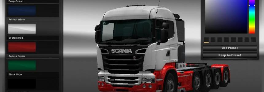 Two tone paint for Scania RJL 1.21