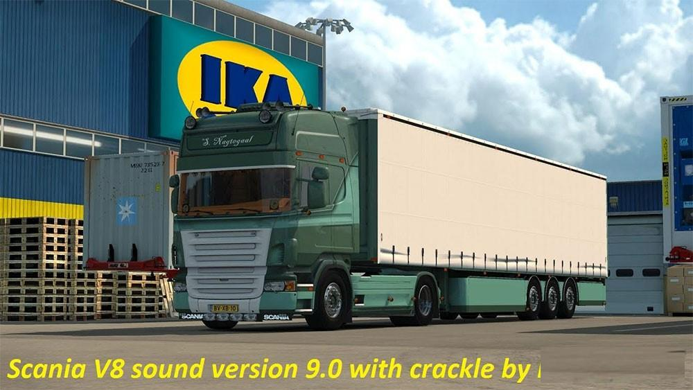 Scania V8 sound Version 9.0 with Crackle