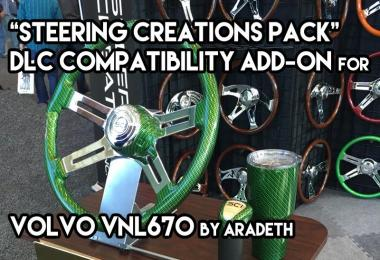 Steering Wheel DLC Add-on for VNL670 by Aradeth v1