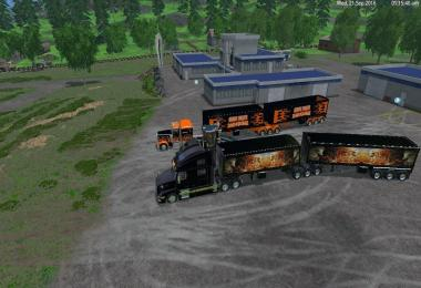 Grave Digger Truck Trailer Volvo Truck Trailer by Eagle355th