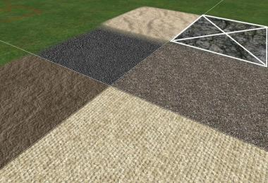 Sand, gravel, asphalt and dirt textures v1.1