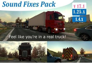 Sound Fixes Pack v17.1 (stable release) for ATS
