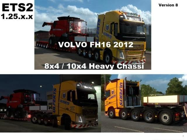 Volvo FH 2012 8×4 and 10×4 Version8