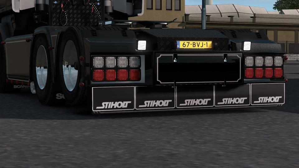 Backbumper custom V3 for RJL scania R & T and both 4 series