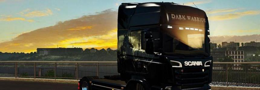 Dark Warrior Skin Scania RJL 1.25