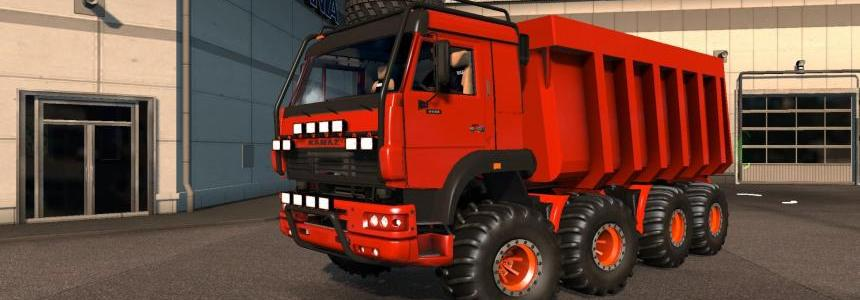 KAMAZ MONSTER 8x8 [RED] - UPDATED for 1.25