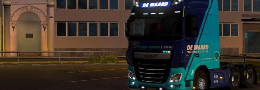 Ohaha DAF XF E6 De Waard Trans (Netherlands) Skin