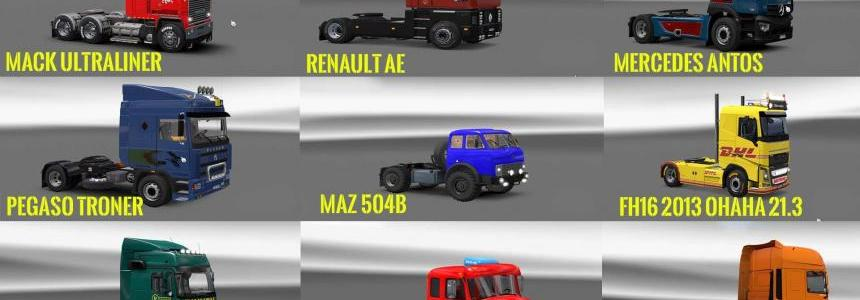 PACK 4 COMPT. TRUCKS OF POWERFUL ENGINES PACK + TRANSMISSIONS V7.0
