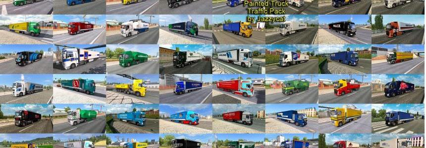 Painted Truck Traffic Pack by Jazzycat v2.5