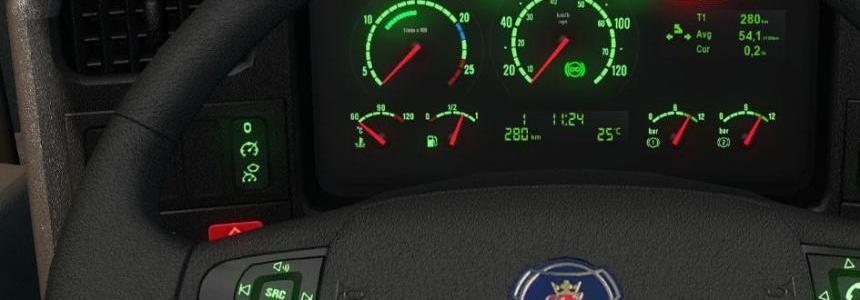 Scania RJL 5 Series Old Gauges R11 + Piva Display v2.0